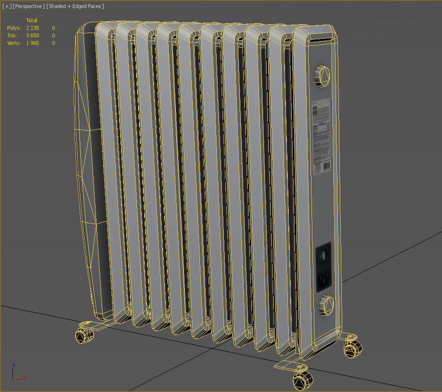 Heater royalty-free 3d model - Preview no. 7