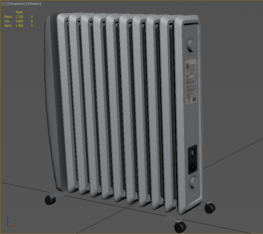 Heater royalty-free 3d model - Preview no. 6