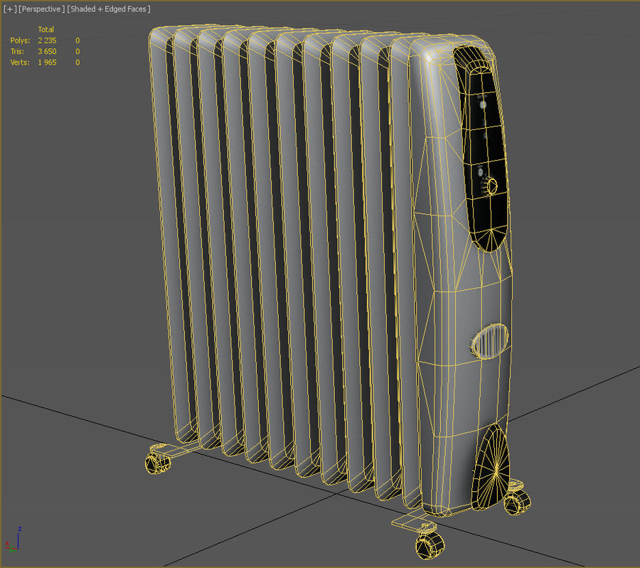 Heater royalty-free 3d model - Preview no. 3