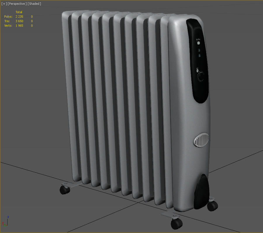 Heater royalty-free 3d model - Preview no. 2