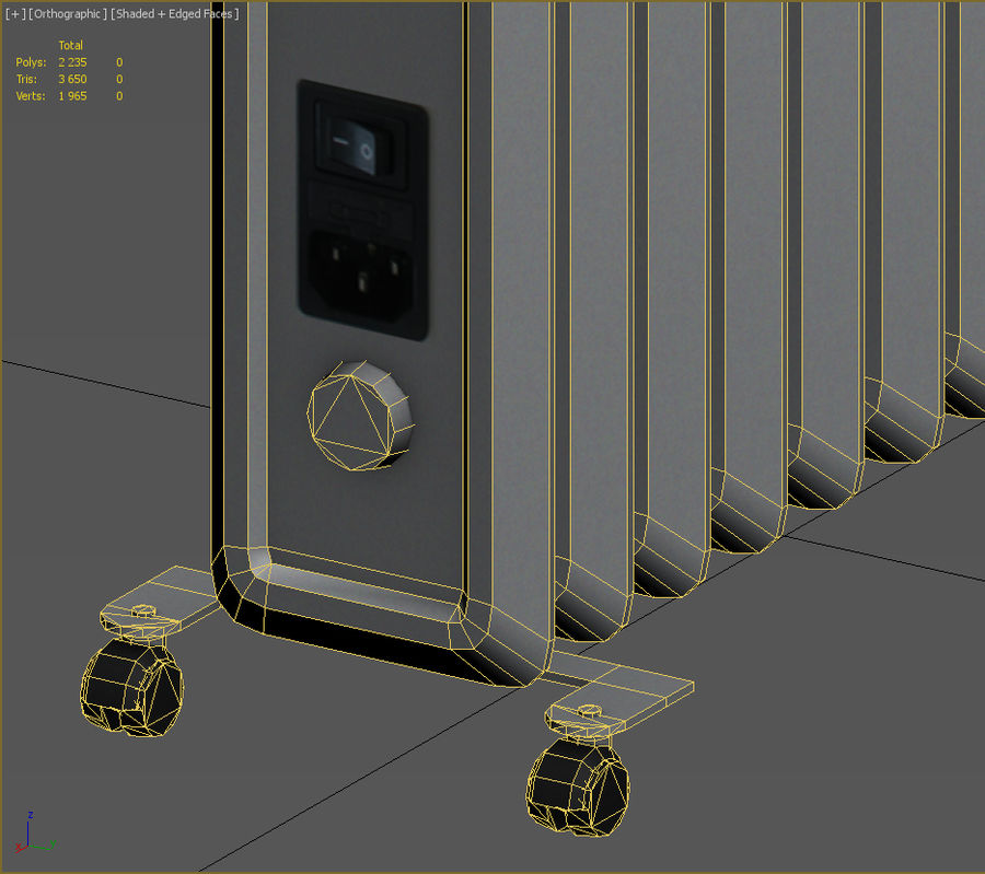 Heater royalty-free 3d model - Preview no. 9