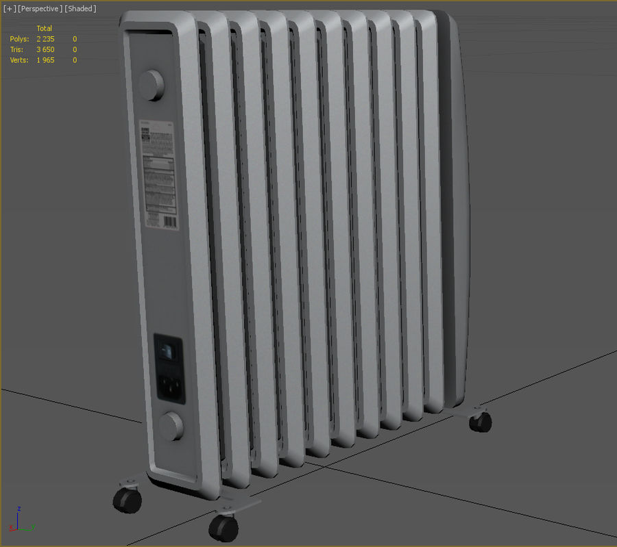 Heater royalty-free 3d model - Preview no. 4
