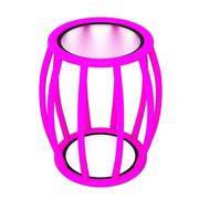 Side table pink 3d model