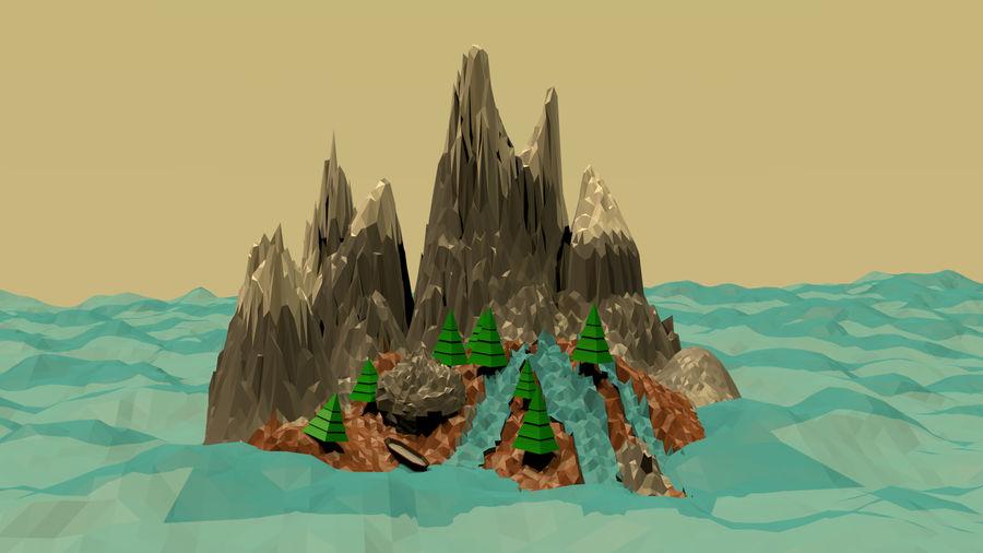 Низкополигональная Пейзаж royalty-free 3d model - Preview no. 2