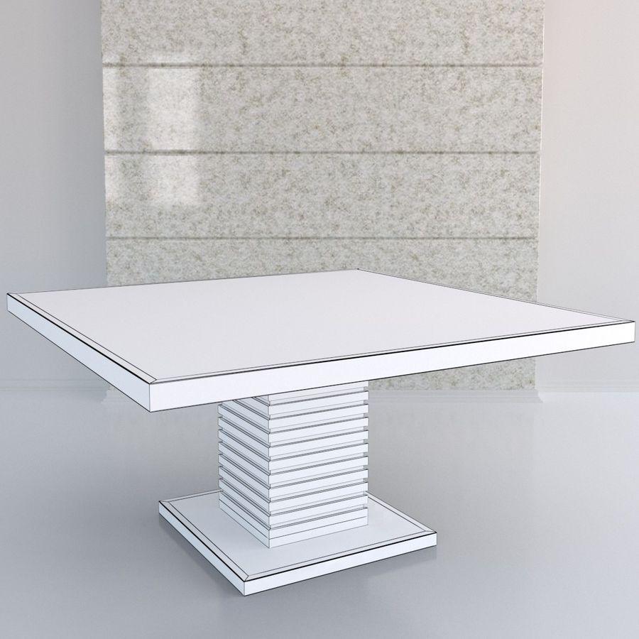 Kare Ayaklı Yemek Masası royalty-free 3d model - Preview no. 2