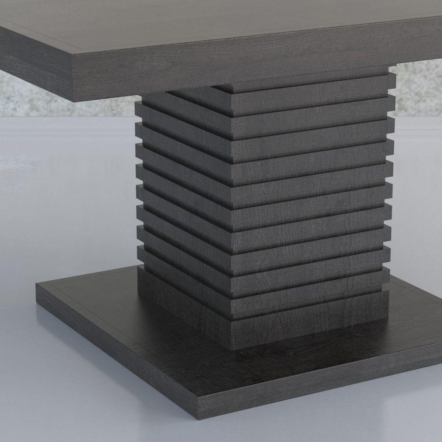 Kare Ayaklı Yemek Masası royalty-free 3d model - Preview no. 3