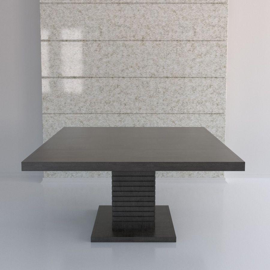 Kare Ayaklı Yemek Masası royalty-free 3d model - Preview no. 5
