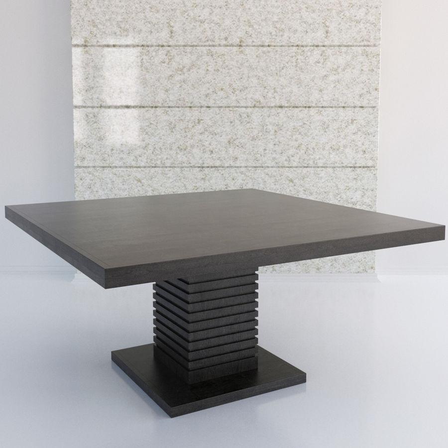 Kare Ayaklı Yemek Masası royalty-free 3d model - Preview no. 1
