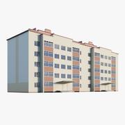 5-piętrowy budynek mieszkalny 3d model