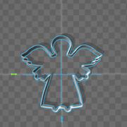 cookie cutter angel 3d model