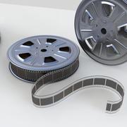 Modèle de film et bobine 3d model