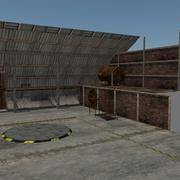 Laag poly garade scène 3d model