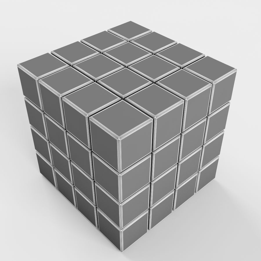 Rubiks cube royalty-free 3d model - Preview no. 7