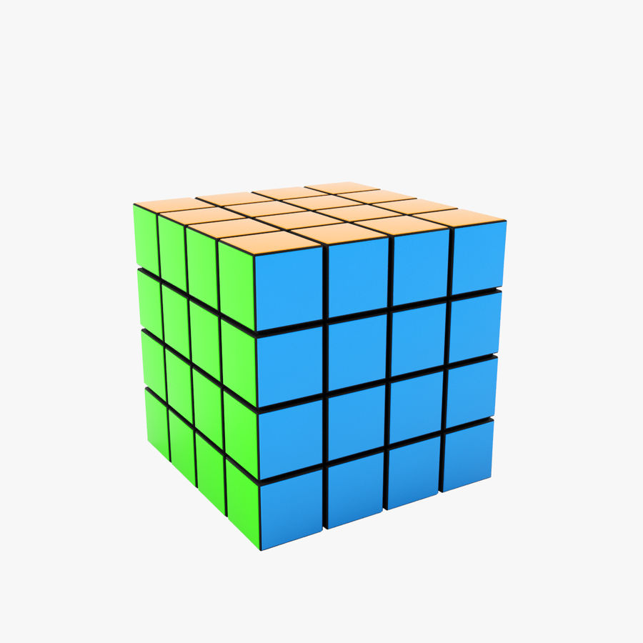 Rubiks cube royalty-free 3d model - Preview no. 1
