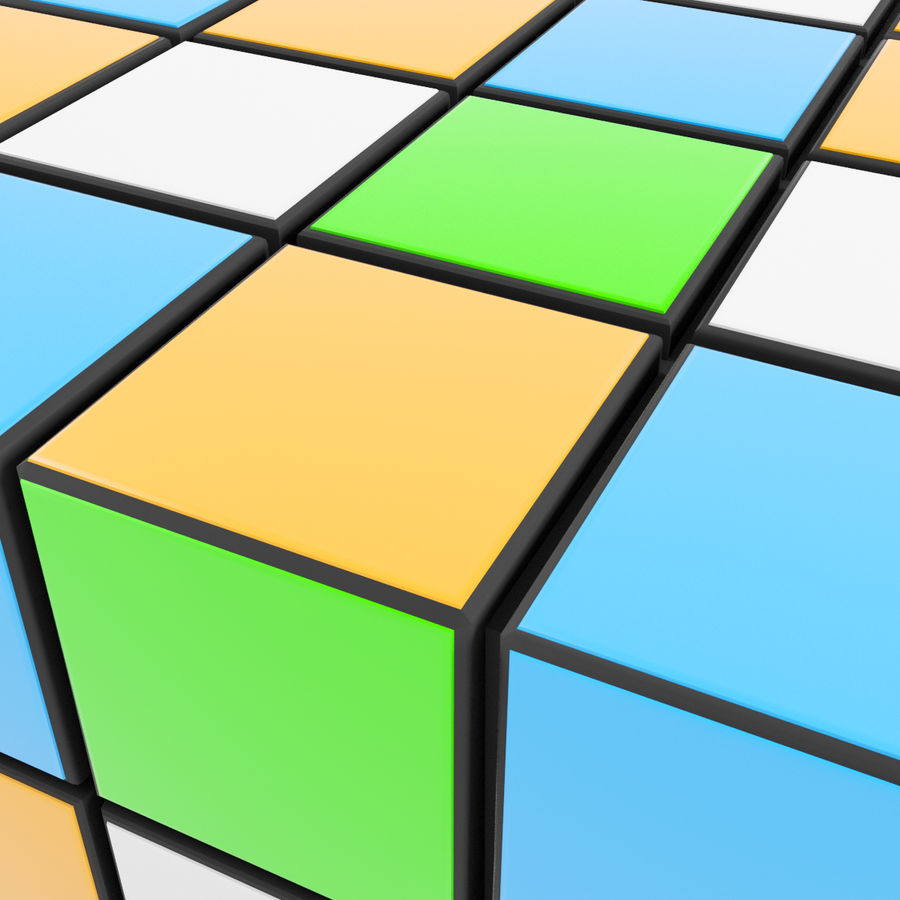 Rubiks cube royalty-free 3d model - Preview no. 5