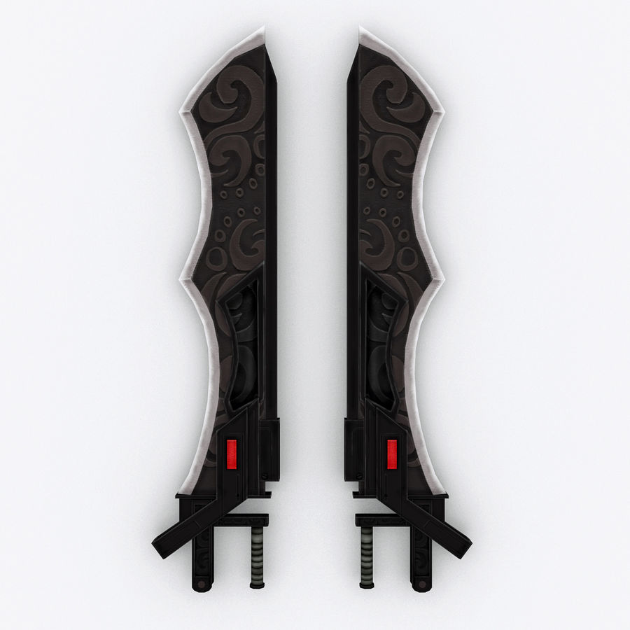 Sword Hand Blades 5 - Fantasy Steampunk Sci Fi Sword Weapons royalty-free modelo 3d - Preview no. 3