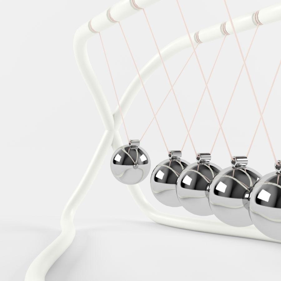 牛顿的摇篮 royalty-free 3d model - Preview no. 5