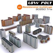 20 budynków mieszkalnych 3d model