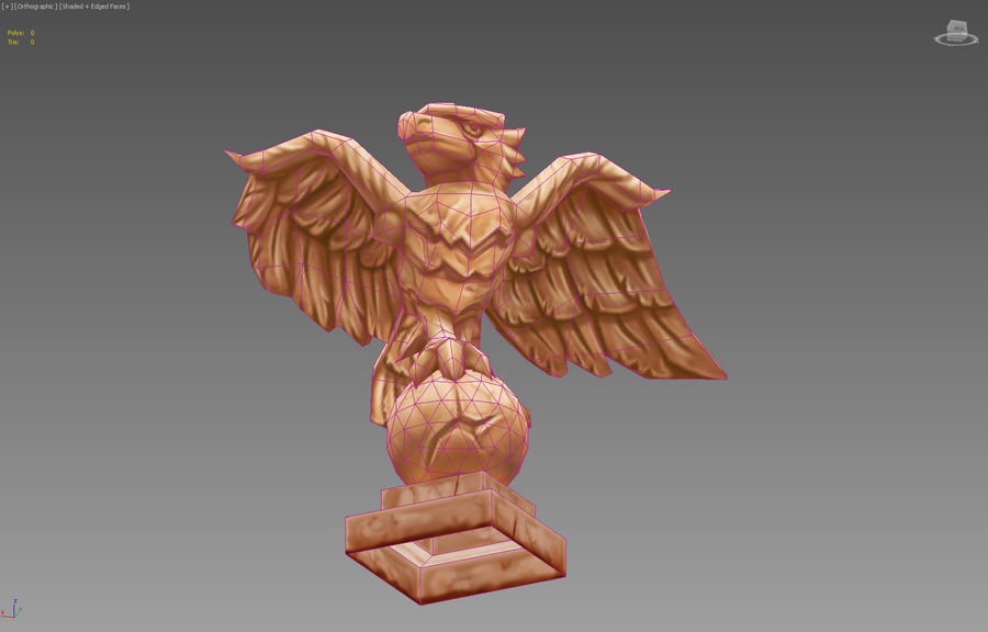 Aquila royalty-free 3d model - Preview no. 2
