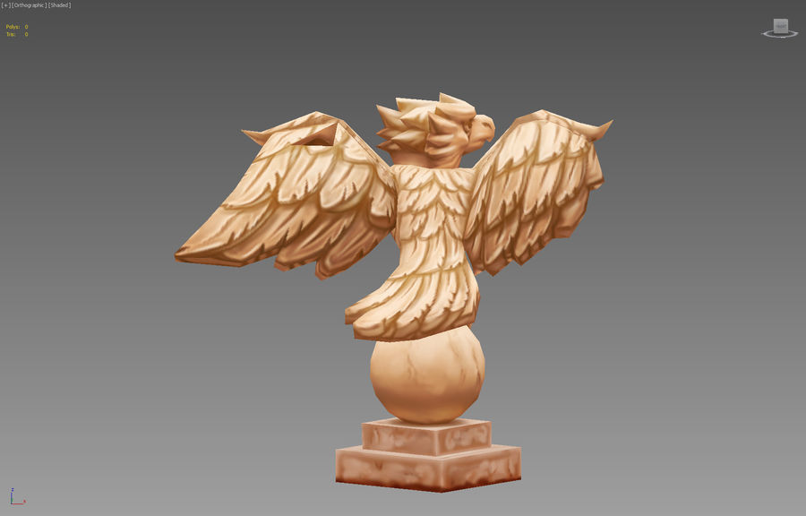 Aquila royalty-free 3d model - Preview no. 4