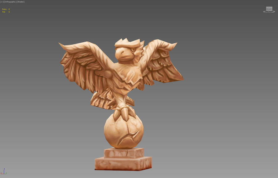 Aquila royalty-free 3d model - Preview no. 3