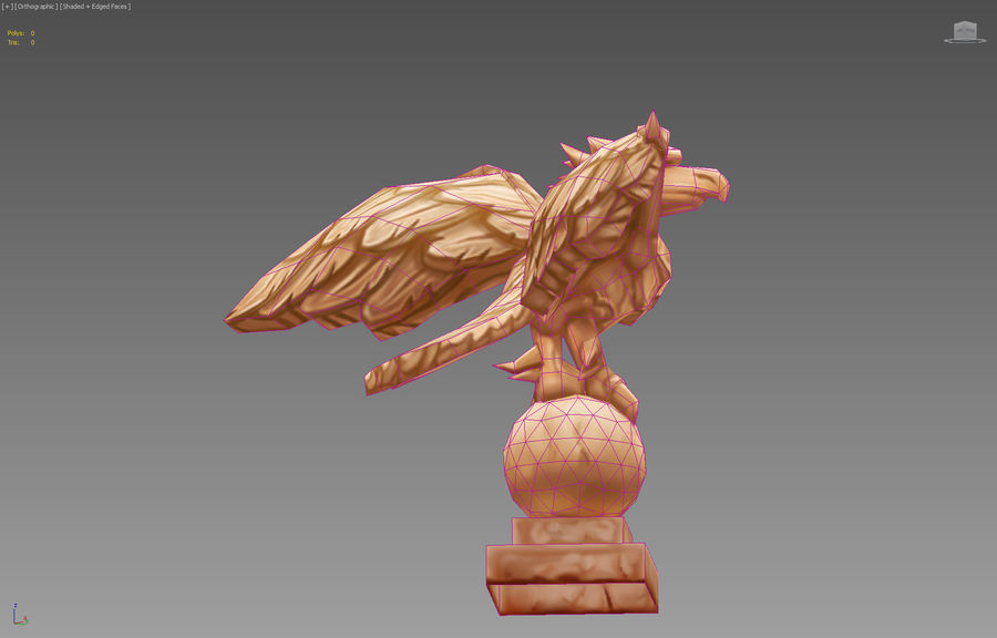 Aquila royalty-free 3d model - Preview no. 6