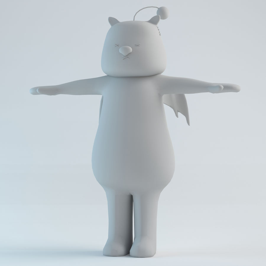 Moogle V1 royalty-free 3d model - Preview no. 1