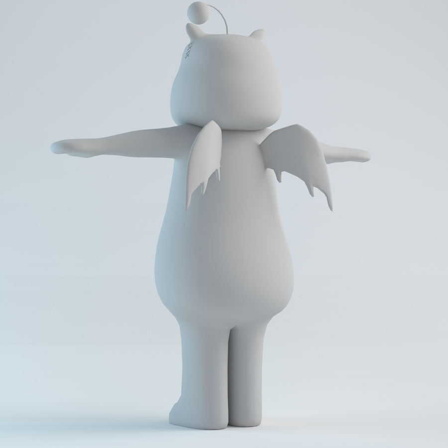 Moogle V1 royalty-free 3d model - Preview no. 4