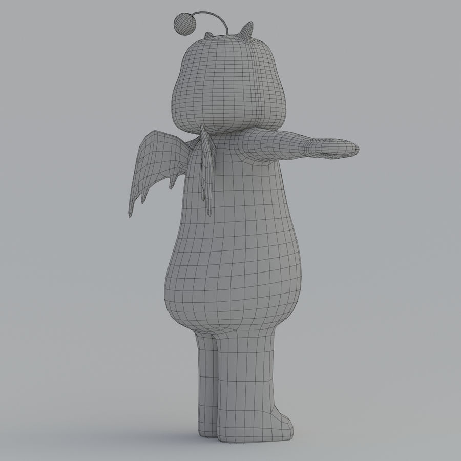 Moogle V1 royalty-free 3d model - Preview no. 14