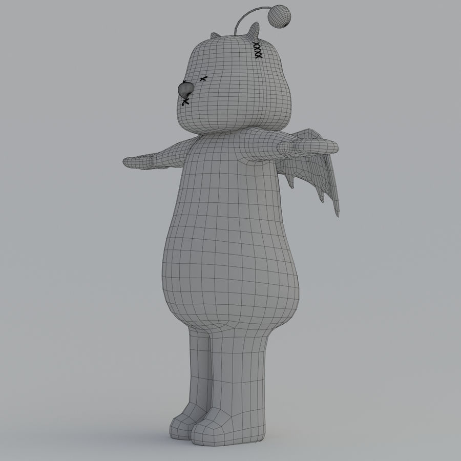 Moogle V1 royalty-free 3d model - Preview no. 10