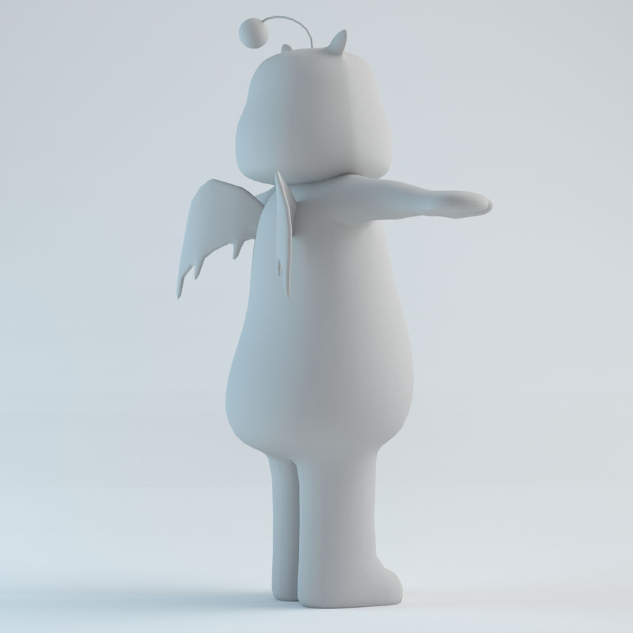 Moogle V1 royalty-free 3d model - Preview no. 6