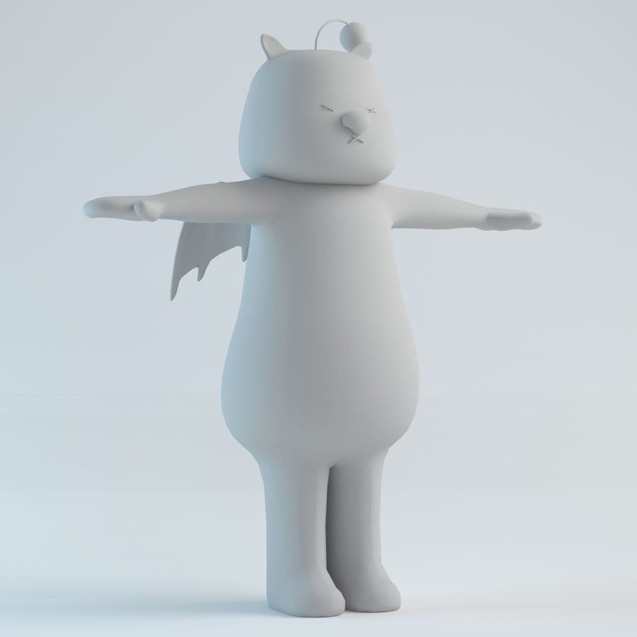 Moogle V1 royalty-free 3d model - Preview no. 8