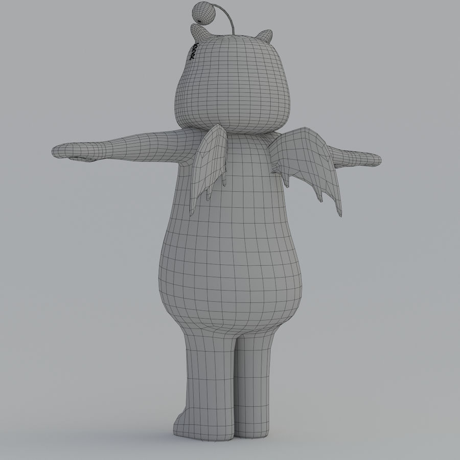 Moogle V1 royalty-free 3d model - Preview no. 12