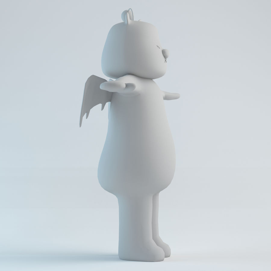 Moogle V1 royalty-free 3d model - Preview no. 7
