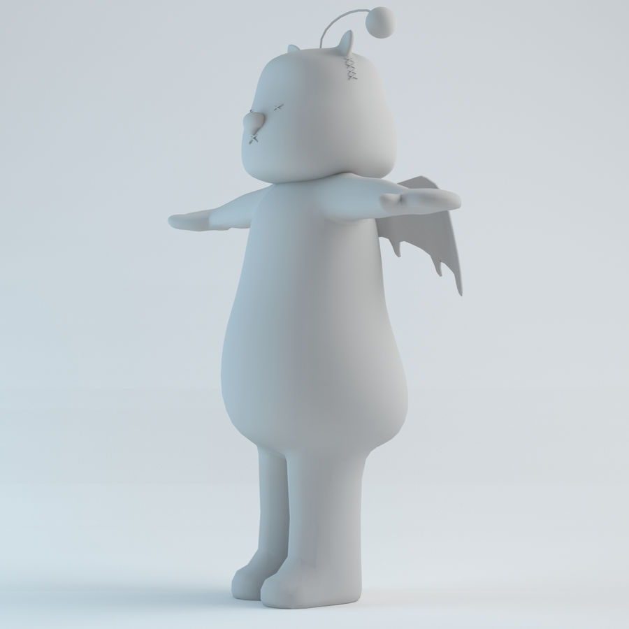 Moogle V1 royalty-free 3d model - Preview no. 2