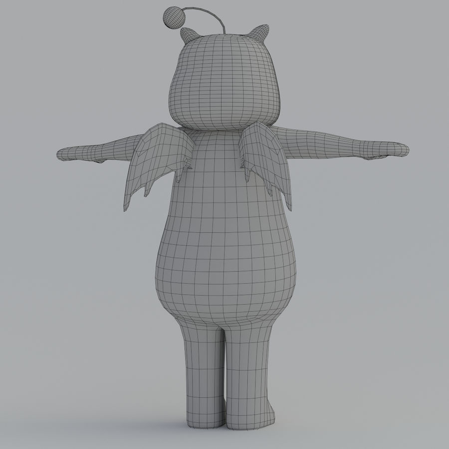 Moogle V1 royalty-free 3d model - Preview no. 13