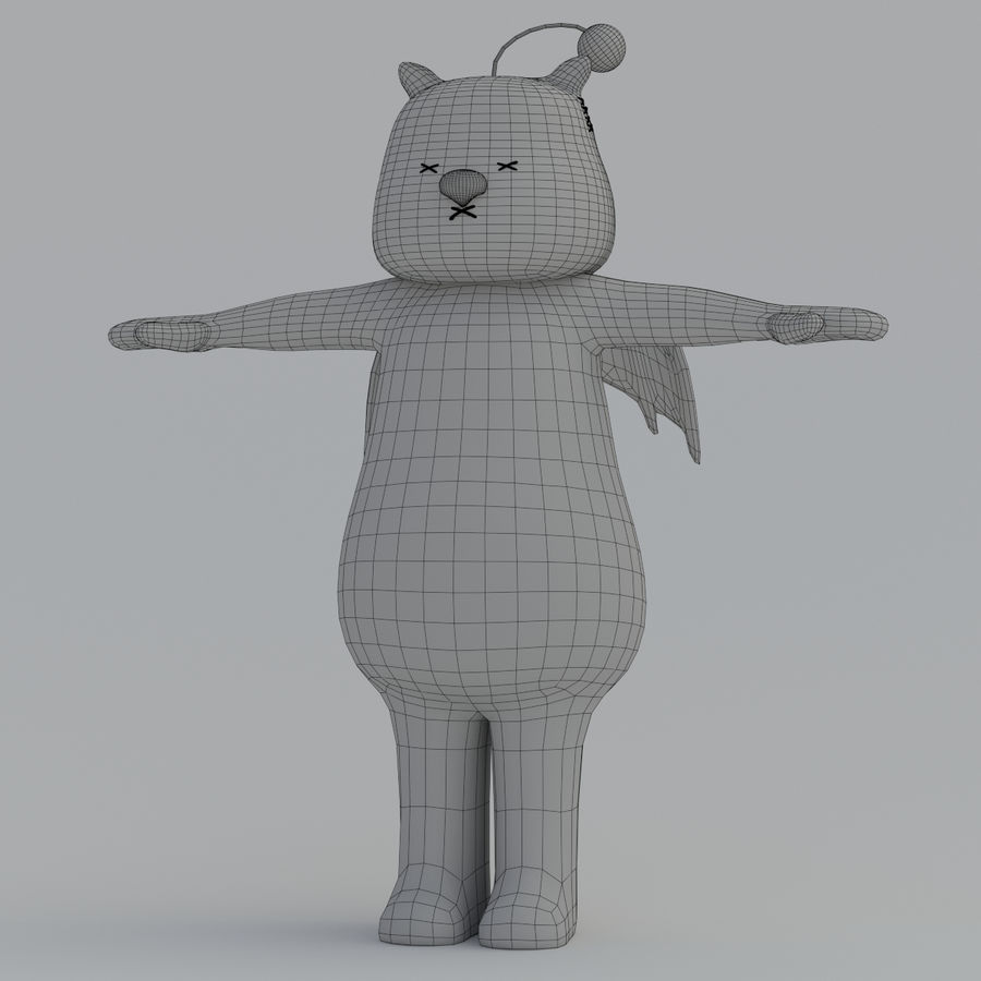 Moogle V1 royalty-free 3d model - Preview no. 9