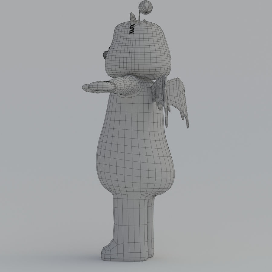 Moogle V1 royalty-free 3d model - Preview no. 11