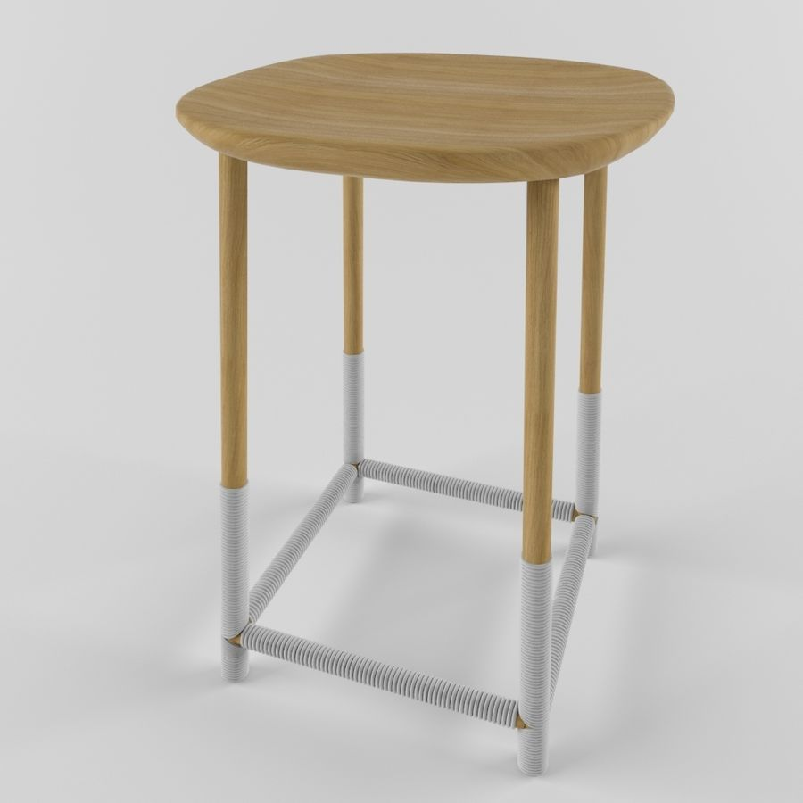 Wood Stool royalty-free 3d model - Preview no. 1