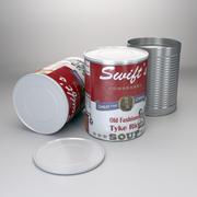 Lata de comida 3d model