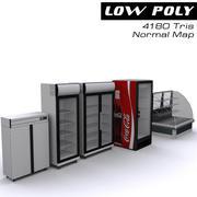 Koelkasten voor winkel 3d model