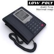 Telephone black 3d model
