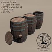 Barrel Wood 3d model