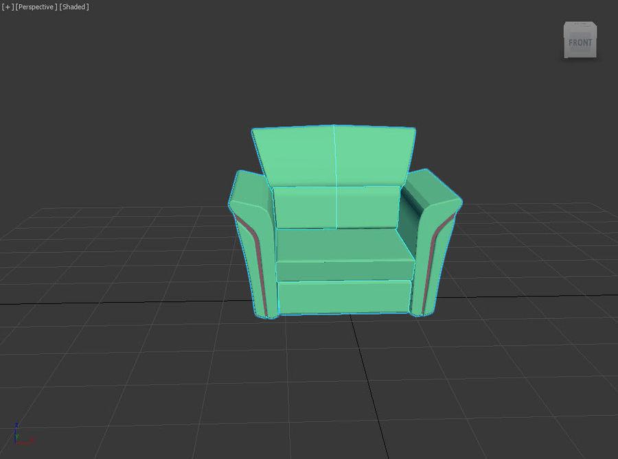Sofa royalty-free 3d model - Preview no. 2