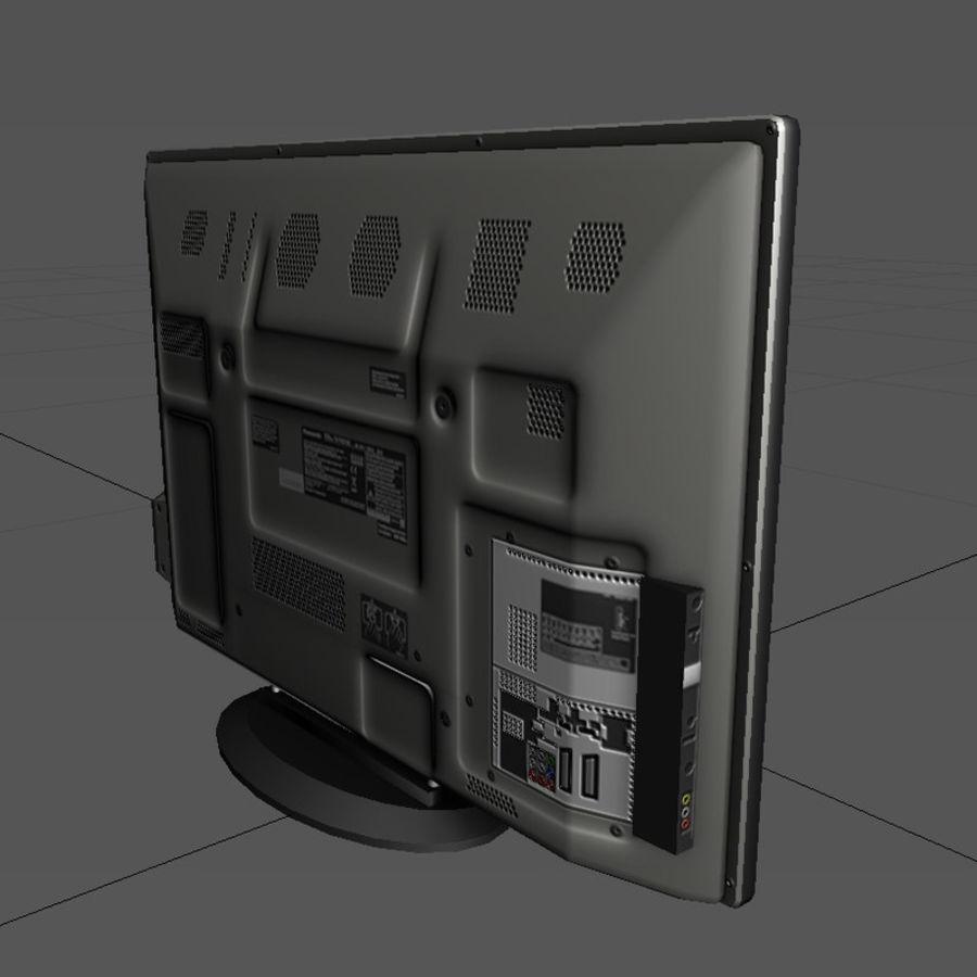 TV-apparat svart royalty-free 3d model - Preview no. 4