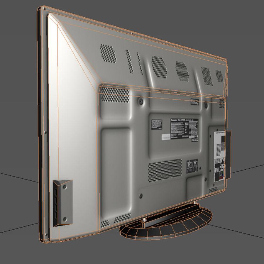 TV-apparat svart royalty-free 3d model - Preview no. 6