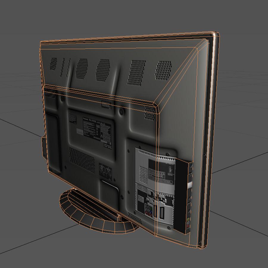 TV-apparat svart royalty-free 3d model - Preview no. 5