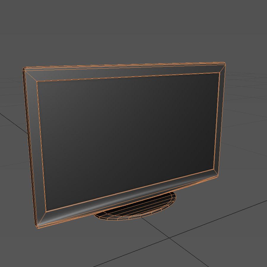TV-apparat svart royalty-free 3d model - Preview no. 3