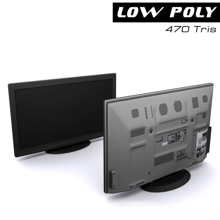 TV-apparat svart royalty-free 3d model - Preview no. 1