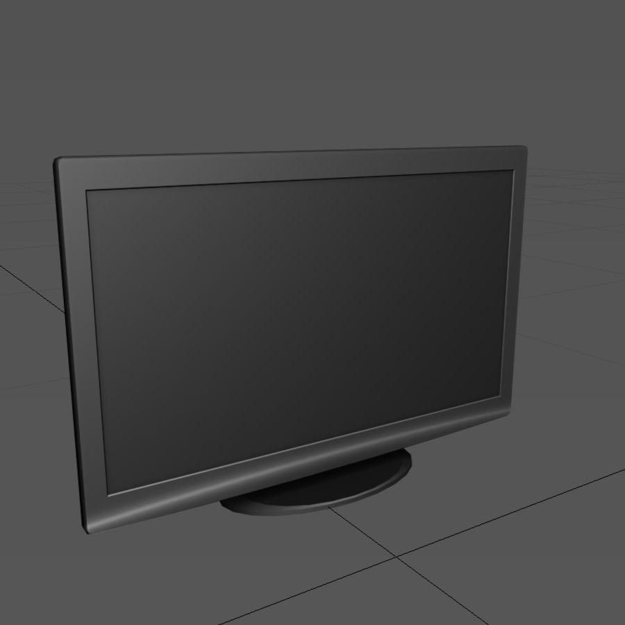 TV-apparat svart royalty-free 3d model - Preview no. 2